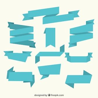 Colección de cinta azul plana