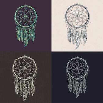 Colección de diseños de atrapasueños