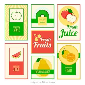 Colección de folletos de zumos de frutas