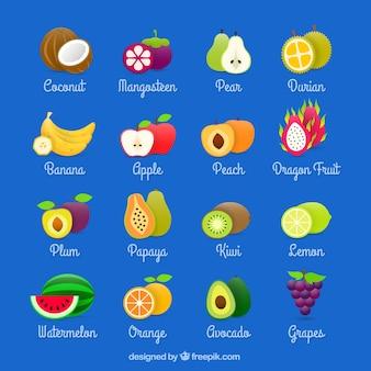 Colección de frutas