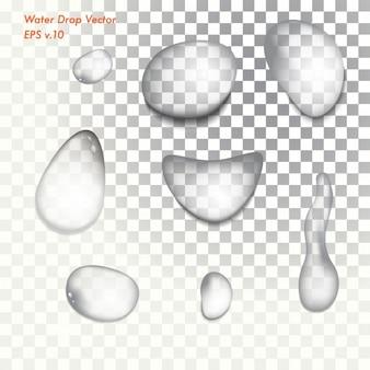 Colección de gotas de agua