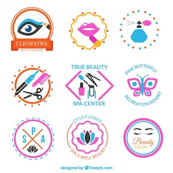 Colección de insignias de belleza