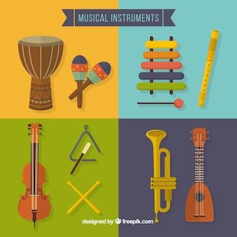 Colección de instrumentos de música