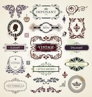 Colección de marcos vintage