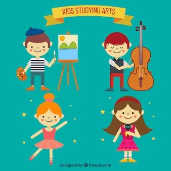 Colección de niños talentosos