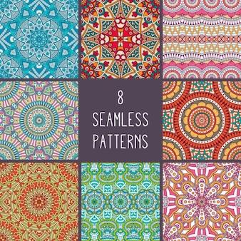 Colección de patrones de estilo boho