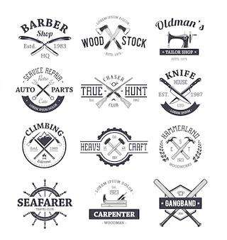 Colección de plantillas de logo de profesiones
