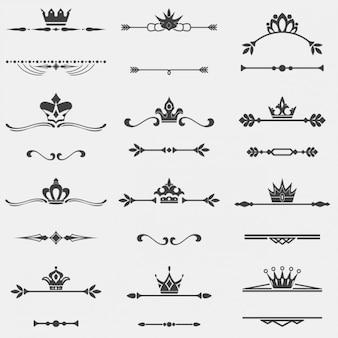 Colección de separadores con corona