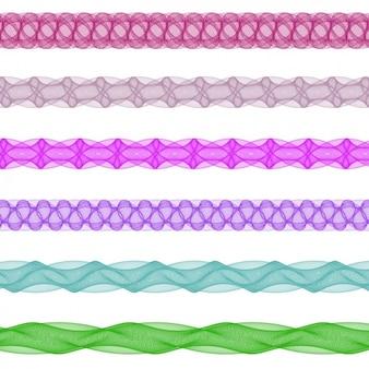Colección de separadores fractales coloridos