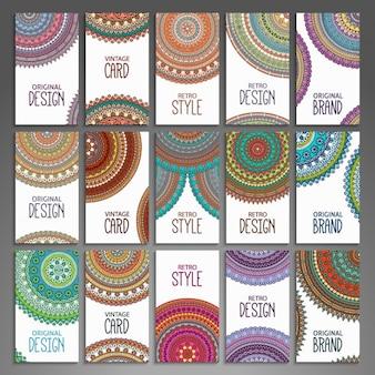 Colección de tarjetas de visita de estilo boho