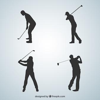 Colección tiros de golf