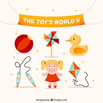 Colección adorable de juguetes