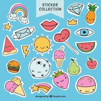 Colección adorable de pegatinas graciosas