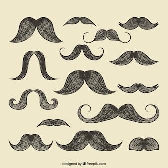 Colección bigotes retro