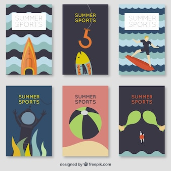 Colección con tarjetas de temática de verano