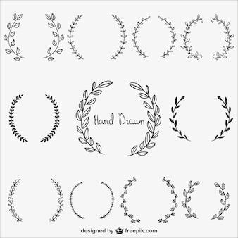 Colección coronas caligráficos