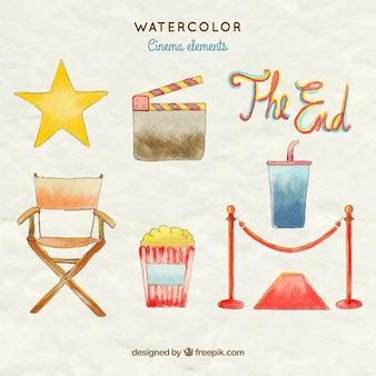 colección de accesorios de la película pintada a mano