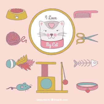 Colección de accesorios para gatos