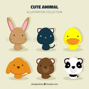 Colección de animales bonitos