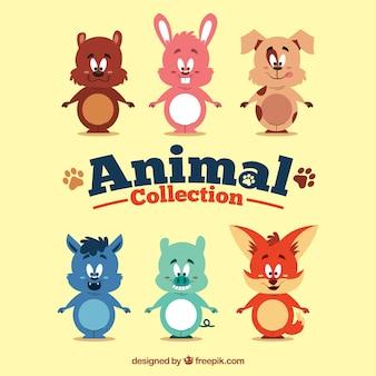 Colección de animales de dibujos animados
