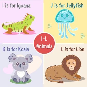 Colección de animales de la i a la l