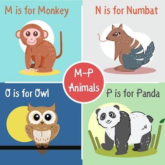 Colección de animales de la m a la p