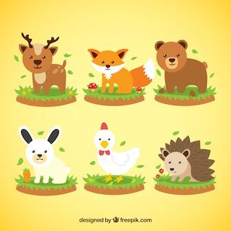 Colección de animales de primavera