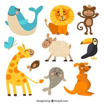 Colección de animales graciosos