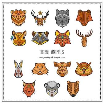 Colección de animales tribales