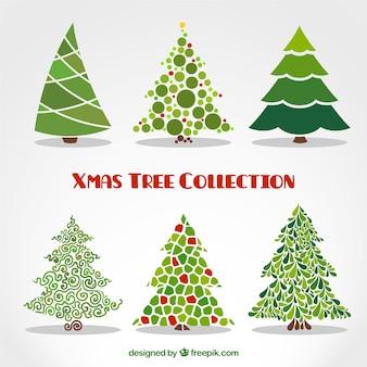 Colección de árboles de navidad abstractos