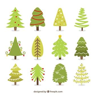 Colección de árboles de navidad