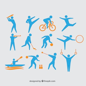 Colección de atletas olímpicos