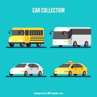 Colección de automóviles planos