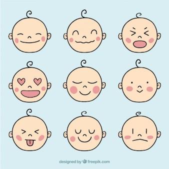 Colección de avatares de bebé