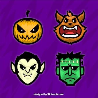 Colección de avatares de halloween