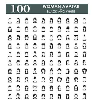 Colección de avatares de mujer
