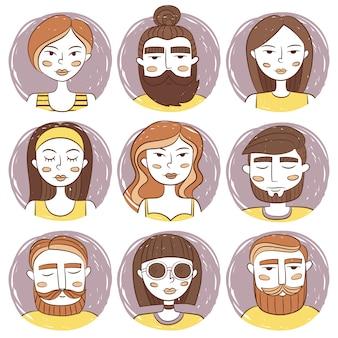Colección de avatares de personas
