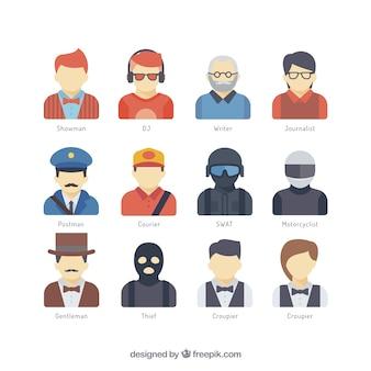 Colección de avatares de trabajadores
