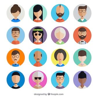 Colección de avatares de usuario