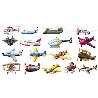 Colección de aviones a color