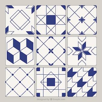 Colección de azulejos de cerámica geométricos