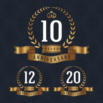 Colección de badges de aniversario
