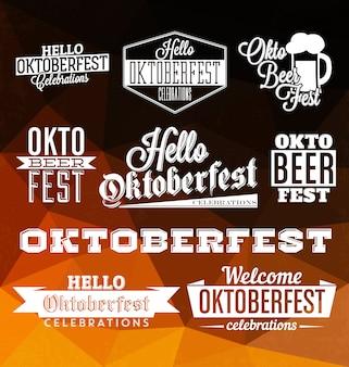 Colección de badges de oktoberfest