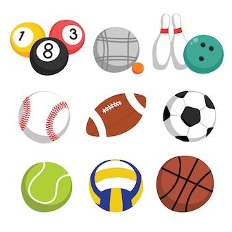 Colección de balones deportivos