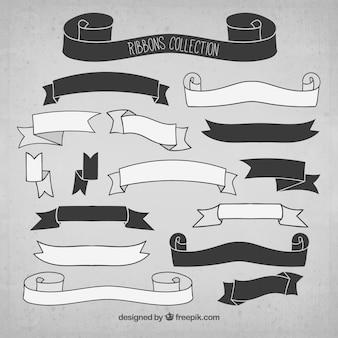 Colección de bandas negras y blancas
