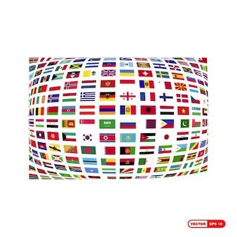 Colección de banderas del mundo
