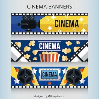 Colección de banners audiovisuales