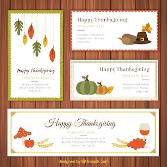 Colección de banners de Acción de gracias