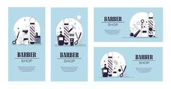 Colección de banners de barbero