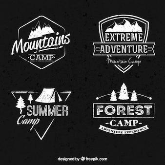 Colección de banners de campamento de montaña